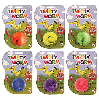 Bristol Novelty Twisty Worms (Pack Of 12)