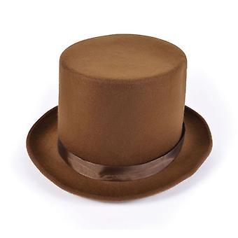Hoge hoed. Wol voelde Brown