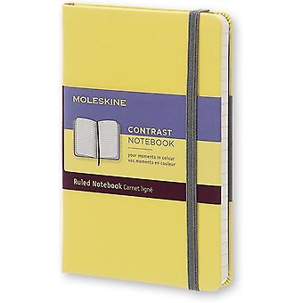 Moleskine limited edition notebook contrast 16 pocket -ruled - geel
