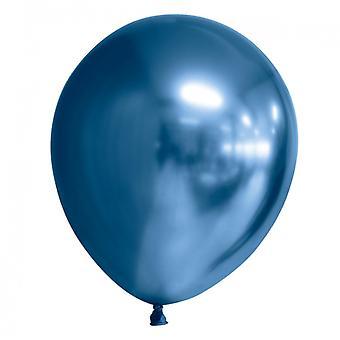 Ballonger med Chrome   Mirror   Reflex Effekt Blå 9-pack