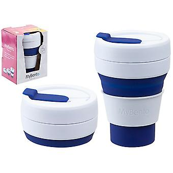 Summit MyBento Pop Cup 355ML Opvouwbaar Siliconen Coffee Cup Mok Travel Foldable - Blauw