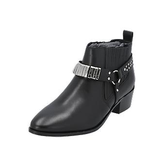 Bronx 46923-C01 Women's Boots Black Lace-Up Boots Winter