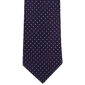 Michelsons Londyn podstawowe schludny krawat poliestrowy - fioletowy