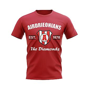 Airdrieonians Established Football T-Shirt (Red)