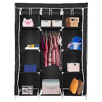 "YesHom 50"" Portable Non-Woven Fabric Wardrobe Bedroom Closet Clothes Cupboard Hanging Rail Storage Organizer Shelf Back"