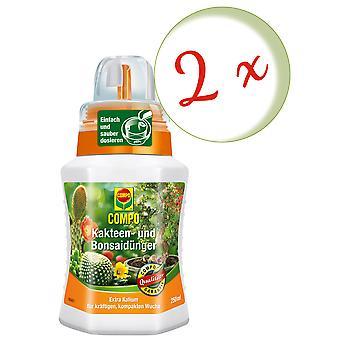 Spar: 2 x COMPO kaktus og saftig gjødsel, også for bonsai, 250 ml