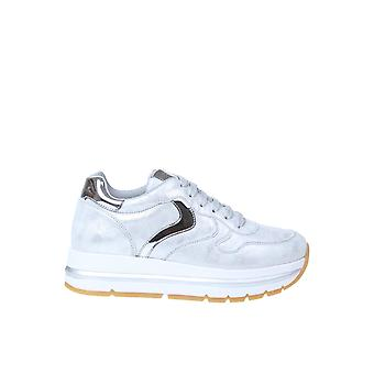 Voile Blanche 0q040012014645702 Women's Silver Leather Sneakers