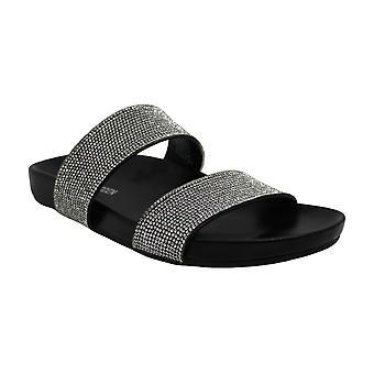 Steve Madden mujeres Cindy Peep Toe casual slide sandalias