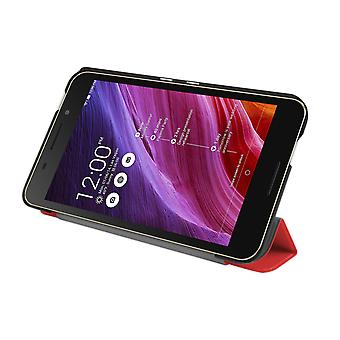 "Slim Compact PU Leather Case Cover for Asus FonePad FE375CG 7""[Red]"