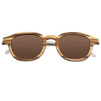 Earth Wood Kavaja Polarized Sunglasses - Apple Wood/Brown