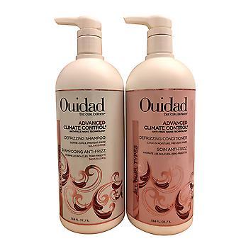 Ouidad Advanced Climate Control Defrizzing Shampoo & Conditioner Set Ea 33.8 OZ