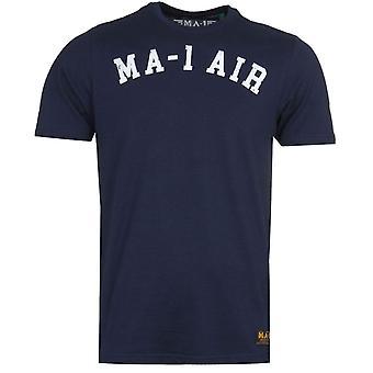 MA-1 AIR Print Navy T-Shirt