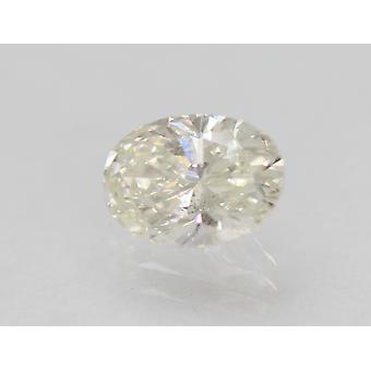 Certified 0.84 Carat G Color VS2 Oval Enhanced Natural Diamond 7.13x5.19mm 2VG