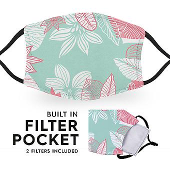 Pastel Flowers - Reusable Adult Cloth Face Masks - 2 Filters Included