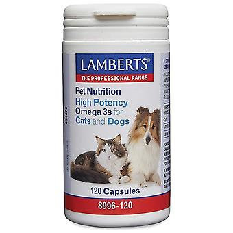 Lamberts High Potency Omega 3 kissoille ja koirille Caps 120 (8996-120)