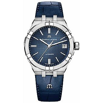 Maurice Lacroix Aikon Automatic 39mm Blue Dial Blue Leather Strap AI6007-SS001-430-1 Watch