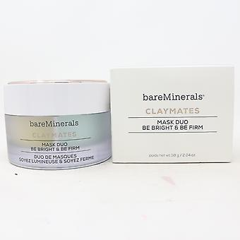 Bareminerals Claymates Masque Duo Be Bright & Be Firm 2.04oz/58g Nouveau avec boîte