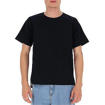 Thom Browne Mjs114a06168415 Miesten's Sininen Puuvilla T-paita