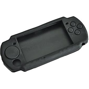 Protective case for psp 3000 console with umd silicone rubber grip cover skin - black | zedlabz
