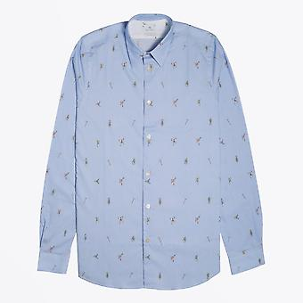 PS Paul Smith  - Tailored 'Climbing Rope' Shirt - Light Blue