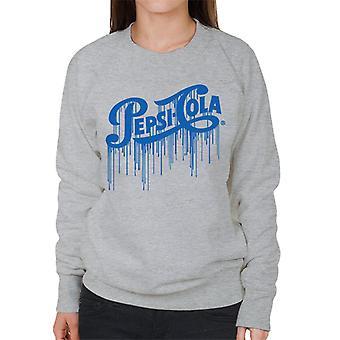 Pepsi Cola 1940s PAINT DRIP vrouwen ' s Sweatshirt