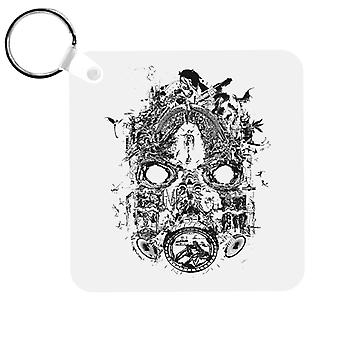 Borderlands 3 Mask Of Mayhem Black Print Keyring