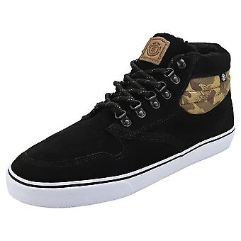 Element Topaz C3 Mid Mens Chukka Trainers in Black Camouflage