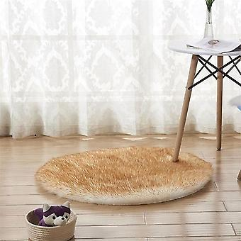 Soft Artificial Sheepskin Carpet Cushion Cover - Bedroom Floor Mat