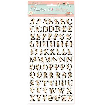 Stamperia Chipboard 15x30cm Love Story Alphabet
