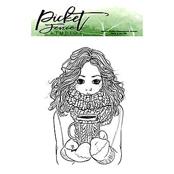 Picket Fence Studios Jill Girl Clear Stamps