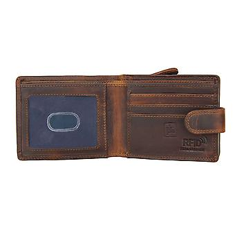 Primehide Mens Portefeuille en cuir RFID Bloquant grande poche zip 1958/1