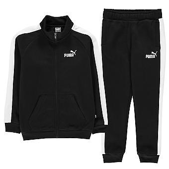 Puma Kinder Fleece Sweat Anzug Langarm Zip Top & Hose Hosen Böden