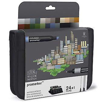 Winsor & Newton Promarker Architectural Tones Wallet 24pc Set