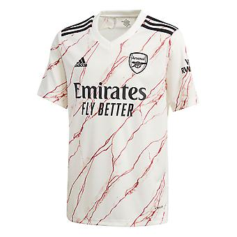 adidas Arsenal 2020/21 Kids Away Football Jersey Shirt White