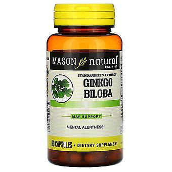 Mason Natural, Ginkgo Biloba, Standardized Extract, 60 Capsules