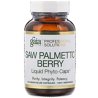 Gaia Herbs Professional Solutions, Saw Palmetto Berry, 60 Liquid-Filled Capsules