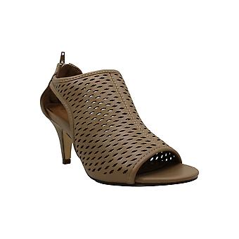 Style & Co. Womens Leather Peep Toe D-orsay Pumps