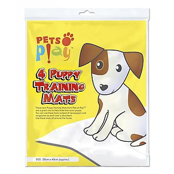 Pets at Play Puppy Training Mat (Pack Of 4)