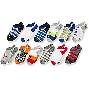 Brand - Spotted Zebra Kids Boys Ankle Socks, 12-Pack Monsters, X-Small