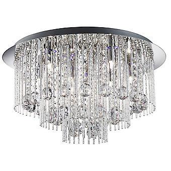 Searchlight Beatrix - LED 8 Light Flush Taklampa Krom, Kristall, G9