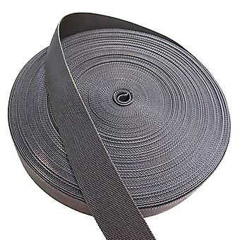 50M Length Thickening PP Webbing luggage Shoulder Straps Gray