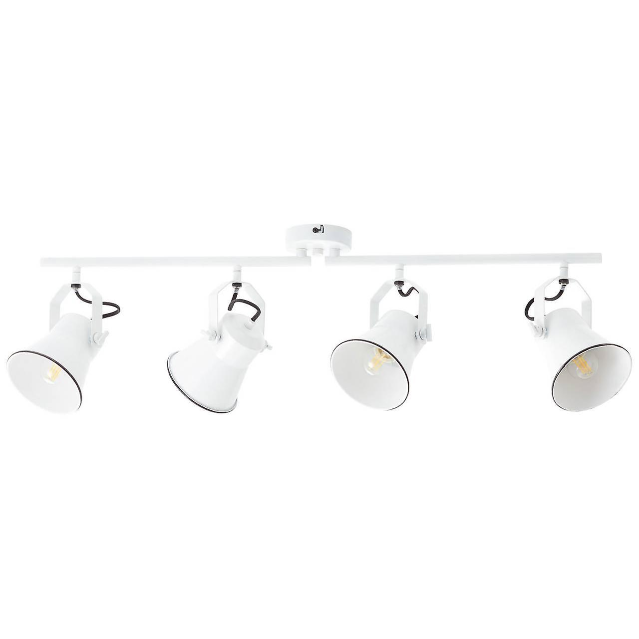 BRILLIANT Lampe Croft Spotrohr 4flg weiß | 4x D45, E27, 18W, geeignet für Tropfenlampen (nicht enthalten) | Skala A++ bis E | Köpfe schwenkbar