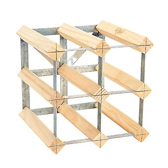 6 Bottle Wine Rack - Fully Assembled - Light Wood
