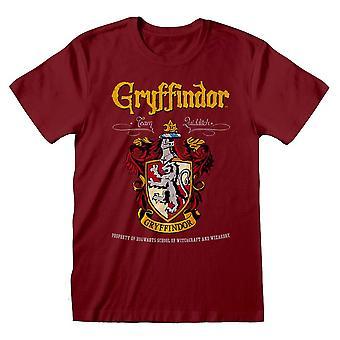 Harry Potter Gryffindor Crest Team Quidditch T-Shirt Unisex Extra Large Red