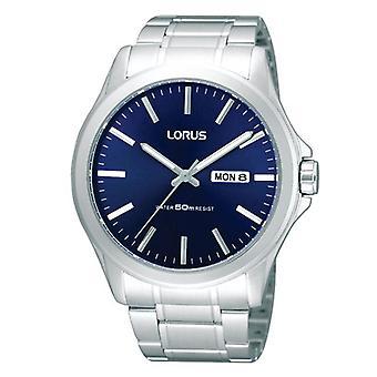 Lorus Mens Edelstahl Kleid und blaue Zifferblatt Uhr (Modell Nr. RXN65CX9)