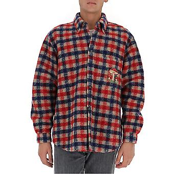 Gucci 636405zafk39038 Men's Multicolor Wool Shirt