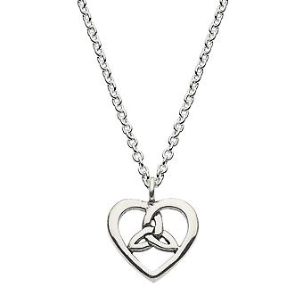 Heritage Sterling Silver Celtic Open Heart Knot Necklace 9343HP026