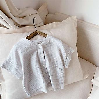 الفتيات الكورية الصيف اللباس منقوشة راغلان قصيرة الأكمام قميص
