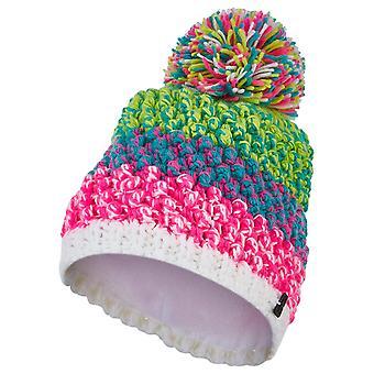 Spyder BERRY Damen Strick Bommel Winter Ski Mütze pink