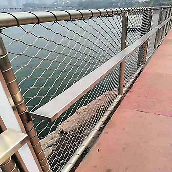 Eco-friendly Creative Stainless Steel Cable Mesh Railing Guard For Bridge